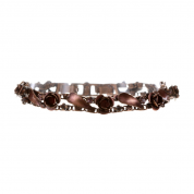 ARMBAND IN HONOR OF THE ROSE, RED ANTIQUE COPPER