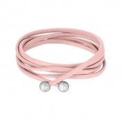 KETTE LEATHER, SOFT ROSE/SILVER