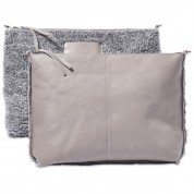 TASCHE ROOTS INNERBAG, TEDDY GREY/LEATHER