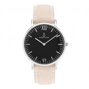 UHR CAMPINA SILBER BLACK, NUDE VELVET LEATHER