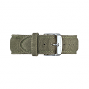 UHRENARMBAND CAMPUS SILBER, CANVAS OLIVE