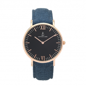 UHR CAMPUS ROSÉ BLACK, CANVAS BLUE