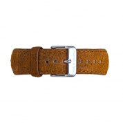 UHRENARMBAND CAMPUS SILBER, BROWN VINTAGE LEATHER
