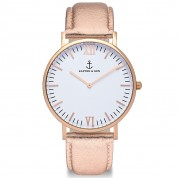 UHR CAMPUS ROSÉ WHITE, ROSÉ METALLIC LEATHER