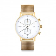 UHR CHRONO SMALL GOLD, MESH
