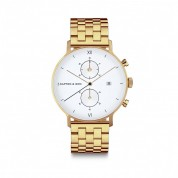 UHR CHRONO SMALL GOLD, STEEL