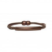 ARMBAND REGGIE, TAUPE/COFFEE GOLD