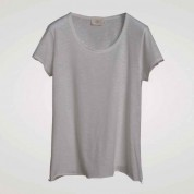 T-SHIRT MATILDA ROUND NECK, LIGHT GREY-S