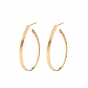 OHRRINGE/OVAL CREOLES, GOLD