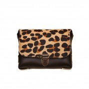 TASCHE CROSSOVER GLORIA SKIN PANTHER SMALL, BLACK/BROWN