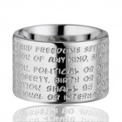 GILARDY HUMAN RIGHTS RING R2, EDELSTAHL SILBER