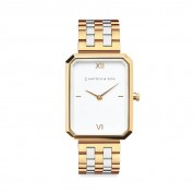UHR GRACE WHITE BICOLOR STEEL, GOLD/SILVER