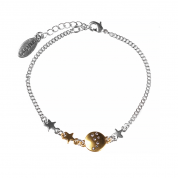 ARMBAND CONSTELLATION COIN & MINI-STARS, SILBER/GOLD