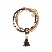 ARMBAND SONG MULTISTONE, GOLD