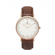 UHR CAMPINA ROSÉ WHITE, BROWN LEATHER