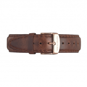 UHRENARMBAND CAMPUS ROSÉ, BROWN LEATHER
