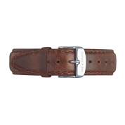 UHRENARMBAND CAMPUS SILBER, BROWN LEATHER