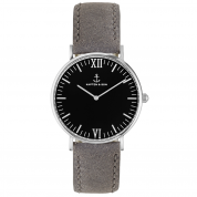 UHR CAMPUS SILBER BLACK, GREY VINTAGE LEATHER