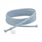 KETTE LEATHER, BABY BLUE / SILBER