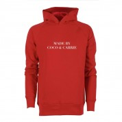 HOODIE MADE BY COCO & CARRIE, RED