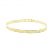 ARMREIF BANGLE HAPPINESS IS NOT A DESTINATION IT IS A WAY OF LIFE