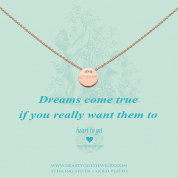 KETTE MIT ANHÄNGER, DREAMS COME TRUE IF YOU REALLY WANT THEM TO