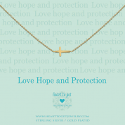 KETTE MIT ANHÄNGER, LOVE, HOPE AND PROTECTION