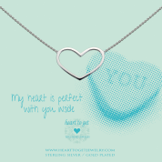 KETTE MIT ANHÄNGER, MY HEART IS PERFECT WITH YOU INSIDE-Silber