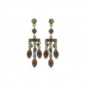 OHRRINGE DAILY DESIRES BROWN/GREEN ANTIQUE BRASS