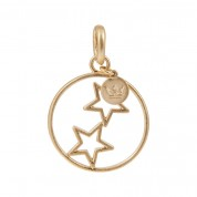 ANHÄNGER CHARM TWO STARS, GOLD