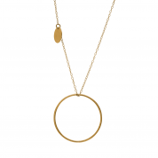 KETTE PLAIN WITH COIN, GOLD