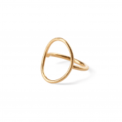 RING OVAL PLAIN, GOLD