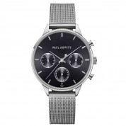 UHR EVERPULSE BLACK SUNRAY SILBER, MESH