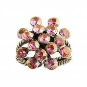 RING MAGIC FIREBALL MINI, LILA CRYSTAL LILAC SHADOW ANTIQUE BRASS