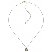 KETTE PENDANT SPELL ON YOU GREY/WHITE, ANTIQUE GOLD