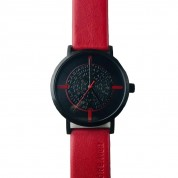 UHR LETTERS SPECIAL EDITION, ROT / SCHWARZ