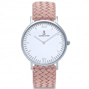 UHR CAMPUS WHITE SILVER, ROSE WOVEN