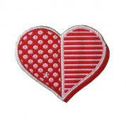 IRON ON PATCH PINK HEART – LIMITED EDITION