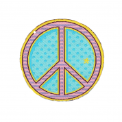 IRON ON PATCH PEACE SIGN – LIMITED EDITION