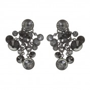 OHRRINGE DANGLING WATERFALLS BLACK/GREY, ANTIQUE SILBER