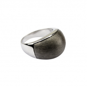 BY Q EXCLUSIVE RING, SILKY DAWN EDELSTAHL/BLACK