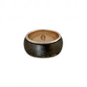 BY Q EXCLUSIVE RING, SILKY DAWN ROSÉGOLD/BLACK