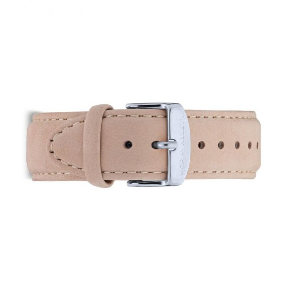 UHRENARMBAND CAMPUS SILVER, SAND SUEDE