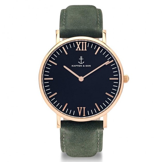 UHR CAMPUS ROSÉ BLACK, PINE GREEN SUEDE LEATHER
