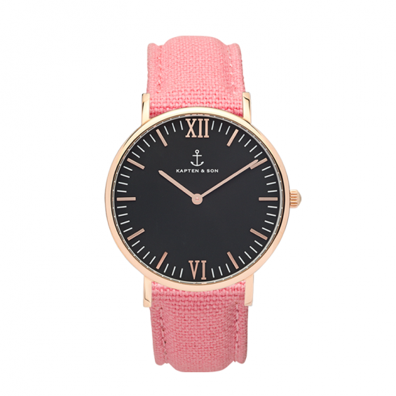 UHR CAMPUS ROSÉ BLACK, CANVAS PINK