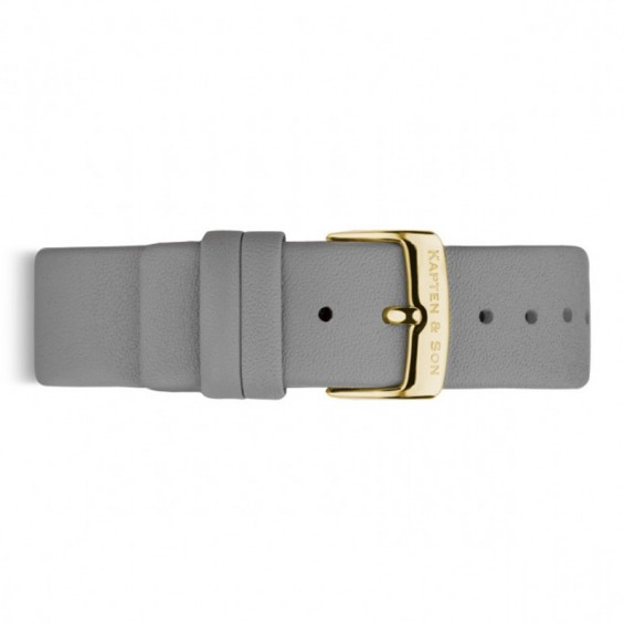 UHRENARMBAND CHRONO GOLD, ASH GREY