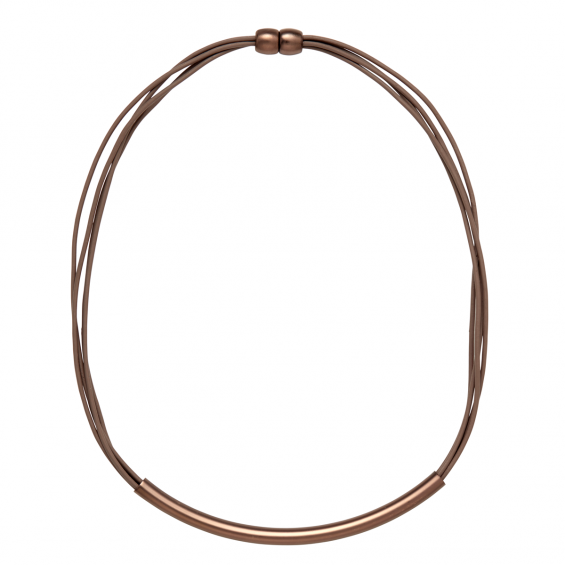 KETTE REGGIE, TAUPE/COFFEE GOLD