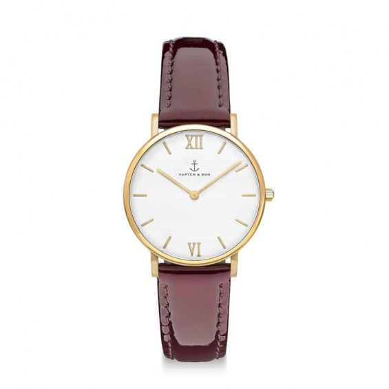 UHR JOY, BORDEAUX PATENT LEATHER