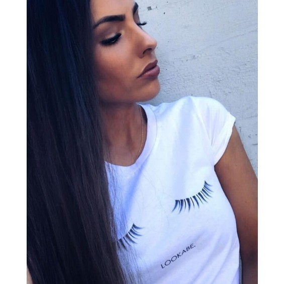 T-SHIRT WIMPERN, WHITE