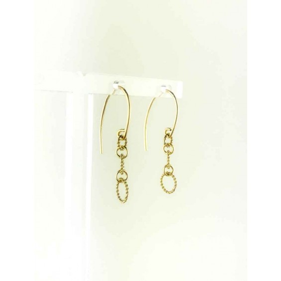 OHRRINGE CREOLE TWISTED RINGS, GOLD